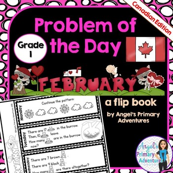 Math Problem of the Day for Grade 1:  February (Canadian Edition)