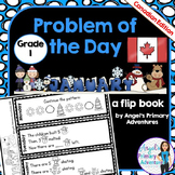 Math Problem of the Day for Grade 1:  January (Canadian Edition)