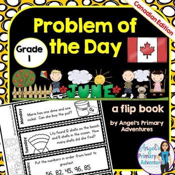 Math Problem of the Day for Grade 1:  June (Canadian Edition)