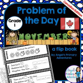 Math Problem of the Day for Grade 1:  November (Canadian Edition)