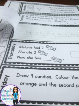 Math Problem of the Day for Grade 1:  October (Canadian Edition)