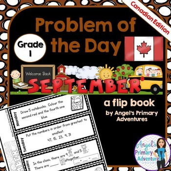 Math Problem of the Day for Grade 1:  September (Canadian Edition)