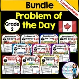 Math Problem of the Day for Grade 2:  BUNDLE (Canadian Edition)