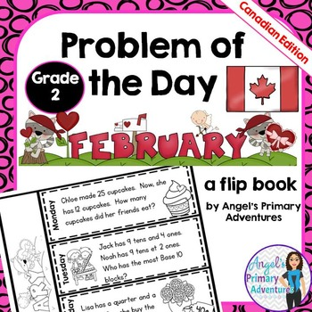 Math Problem of the Day for Grade 2:  February (Canadian Edition)