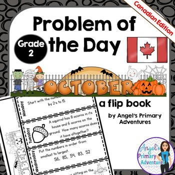 Math Problem of the Day for Grade 2:  October (Canadian Edition)