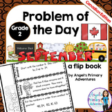 Math Problem of the Day for Grade 2:  September (Canadian Edition)