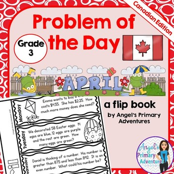 Math Problem of the Day for Grade 3:  April (Canadian Edition)