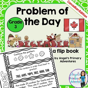 Math Problem of the Day for Grade 3:  December (Canadian Edition)