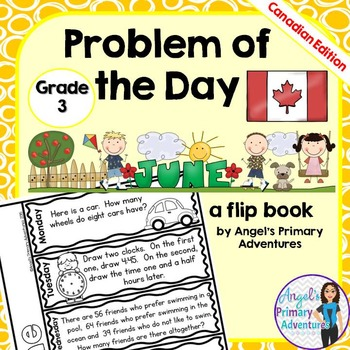 Math Problem of the Day for Grade 3:  June (Canadian Edition)