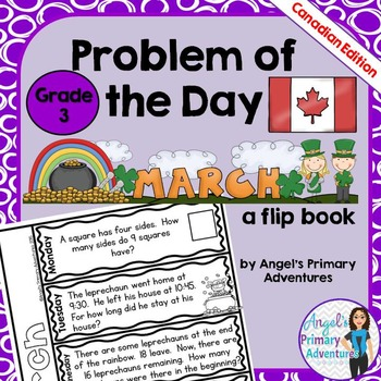 Math Problem of the Day for Grade 3:  March (Canadian Edition)