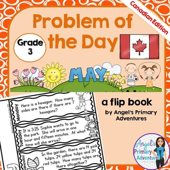 Math Problem of the Day for Grade 3:  May (Canadian Edition)