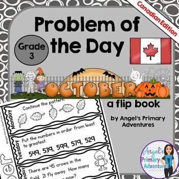 Math Problem of the Day for Grade 3:  October (Canadian Edition)