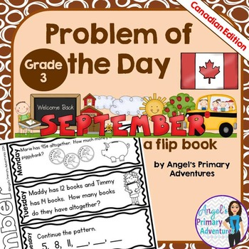 Math Problem of the Day for Grade 3:  September (Canadian Edition)