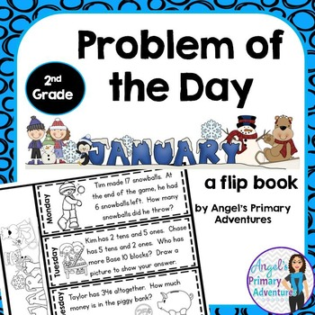 Math Problem of the Day for Second Grade: January