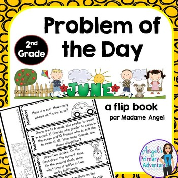 Math Problem of the Day for Second Grade:  June