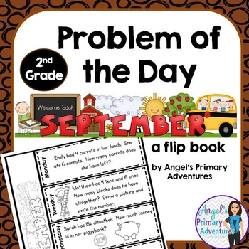 Math Problem of the Day for Second Grade:  September