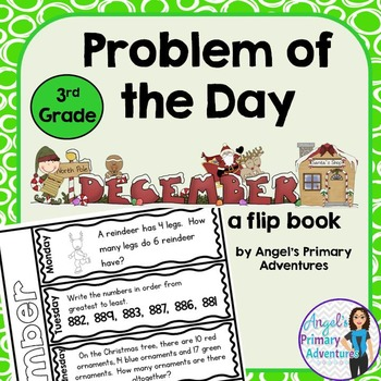 Math Problem of the Day for Third Grade: December