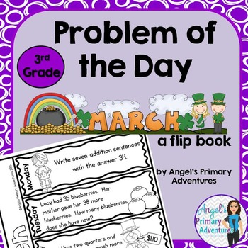 Math Problem of the Day for Third Grade: March