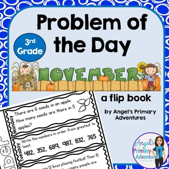 Math Problem of the Day for Third Grade: November