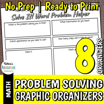 Math Problems Organizers Pack