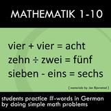 Math Problems in German – Numbers 1-10 – First Week