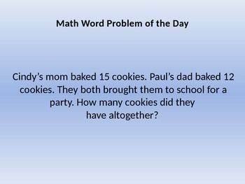 Math Problems of the Day