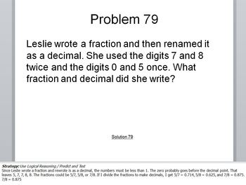 Math Problems of the Day 76-100