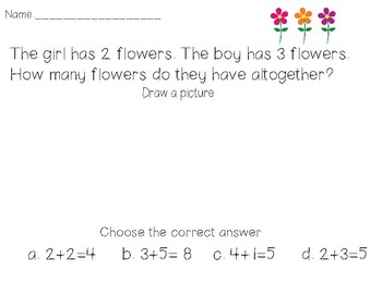 Math Problems with answer choices