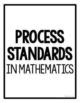 Math Process Standards Poster Pack