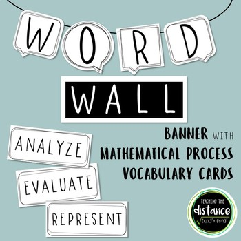 Math Processes Word Wall