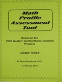 Math Profile Assessment Tool -- Grade 3