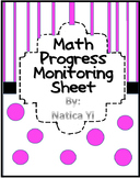 Math Progress Monitoring Assessment Sheet