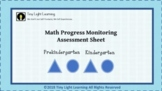 Math Progress Monitoring Assessment Sheet: Patterns, Numbers, Counting & more!