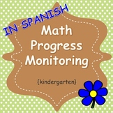 Math Progress Monitoring (Kinder Bilingual Spanish)