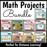 Math Enrichment Projects PBL Bundle for Upper Elementary - Distance Learning