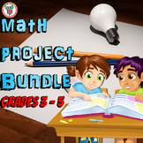 Math Projects in a Fun Worksheet Format - Project based learning Bundle