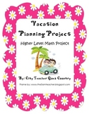 Math Project- Create your own vacation
