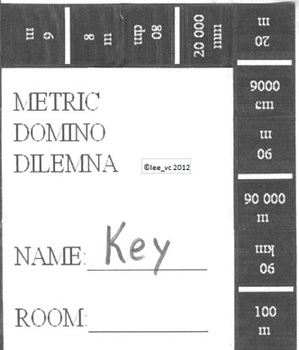 Math Project - Metric Domino Dilemna - Metric Conversions