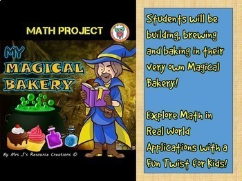 Halloween Math Project: My Magical Bakery (Fun Mixed Math Review & Application)