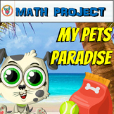 End of Year Math Project: My Pets Paradise (Project Based