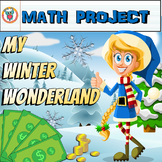 Winter Math Project (Fun Mixed Math Review)