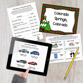Math Project- Plan a Christmas Vacation
