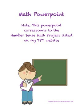 Math Project Powerpoint (Keynote) for Teachers-Number Sense