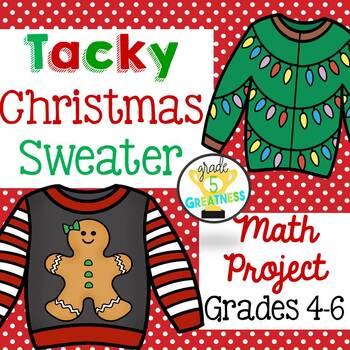 christmas math project tacky sweater - Tacky Christmas