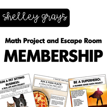 Math Project and Escape Room MEMBERSHIP | Real Life Math Projects