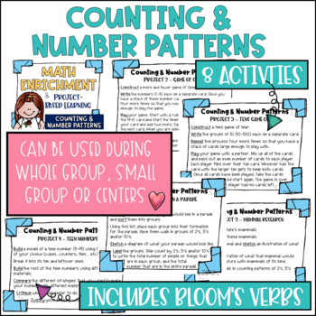 Math Project-based Learning & Enrichment for Counting and Number Patterns