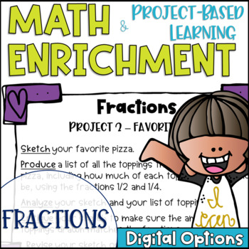 Math Project-based Learning & Enrichment for Fractions