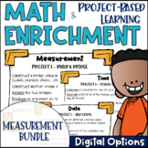 Math Project-based Learning & Enrichment Measurement & Data BUNDLE