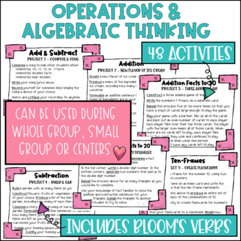 Math Project-based Learning & Enrichment Operations & Algebraic Thinking BUNDLE