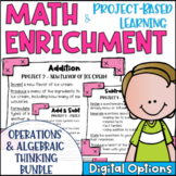 Math Enrichment & Project Based Learning Operations & Alge
